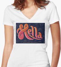 Hella - California Slang Women's Fitted V-Neck T-Shirt