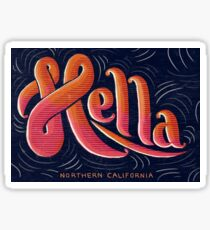Hella - California Slang Sticker