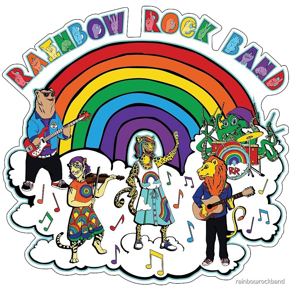 Rainbow Rock Band ASL Logo by rainbowrockband