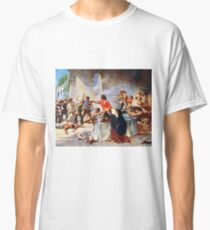 Battle of the Alamo by Percy Moran (1912) Classic T-Shirt