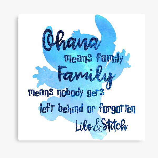 Ohana Means Family Canvas Print