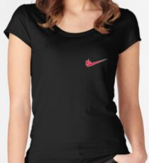 Jutsu it! -Left Chest Women's Fitted Scoop T-Shirt