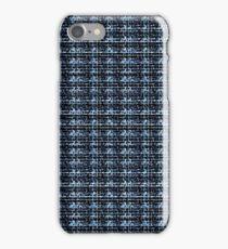 Navy tartan iPhone Case/Skin