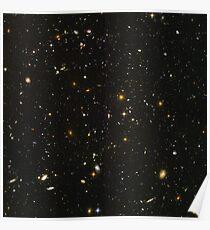 Hubble-Weltraumteleskop-Feld von Galaxien Poster