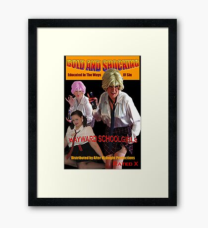 Pulp Movie Poster Framed Print