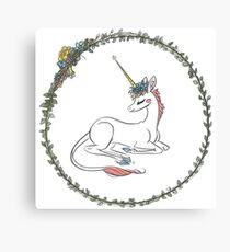 Unicorn Flower Filly Canvas Print