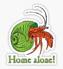 Stay at home Crab! Sticker