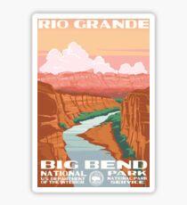 Big Bend National Park Rio Grande Vintage Travel Decal Sticker