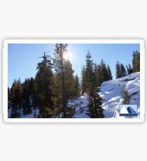 Snowy Scene 5 Sticker