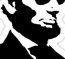 Cool Abe Lincoln - Deal With It Sticker