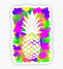 Colour Pineapple Sticker