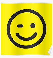 Smilie Face (request other colours) Poster