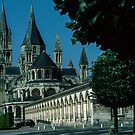 Exterior View from Apse end, L Abbaye aux Hommes Caen 19840819 0011 by Fred Mitchell