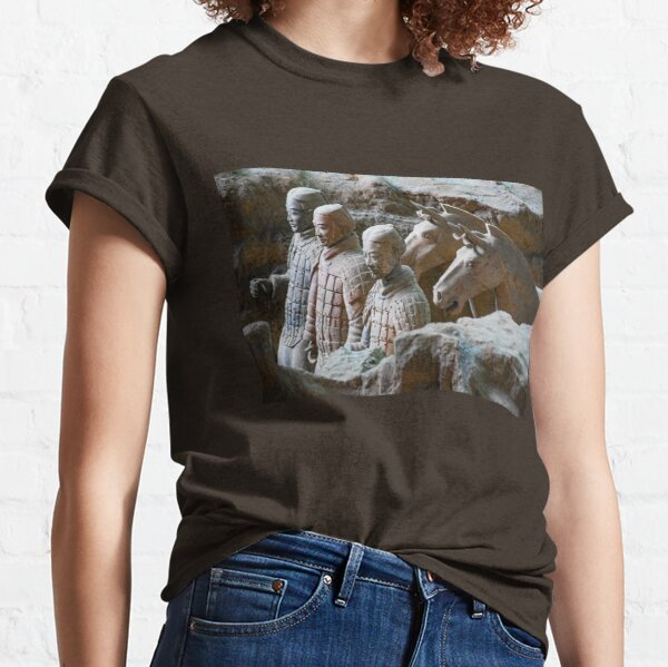 China. Xian. Terracotta Army. Soldiers with Horses. Classic T-Shirt