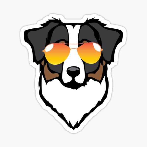 Aussie Orange Sunglasses Sticker
