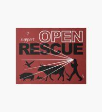 I Support Open Rescue Art Board
