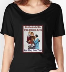 He Controls His Own Bitcoin Keys Women's Relaxed Fit T-Shirt