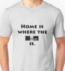 Home is where the NES Controller is T-Shirt