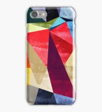 Abstract color pattern shapes iPhone Case/Skin