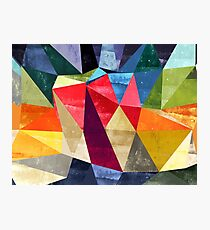 Abstract color pattern shapes Photographic Print