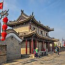 China. Xian. Ancient City Wall. Walking on the Walls. by vadim19