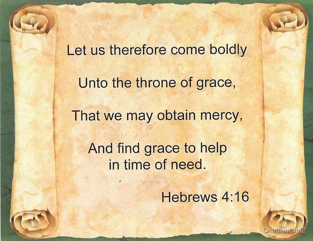 Hebrews 4:16 by Onediamond2