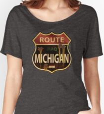 Route Michigan Sign Women's Relaxed Fit T-Shirt