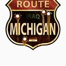 Route Michigan Sign by William Black