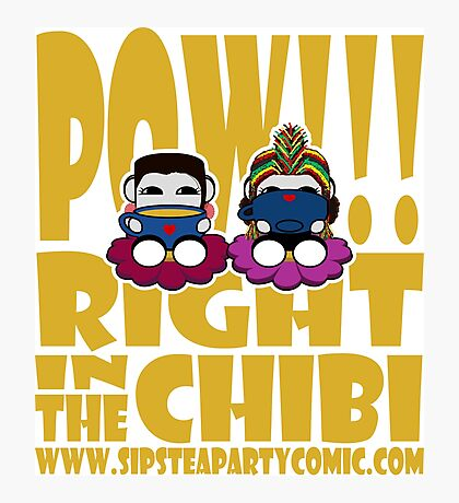 STPC: Pow!!! Right in the Chibi 2.0 Photographic Print