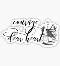 Pegatina Coraje Querido Corazón