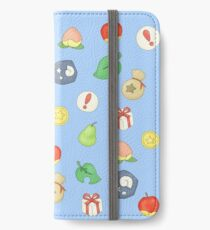Animal Crossing Logo Pattern iPhone Wallet/Case/Skin