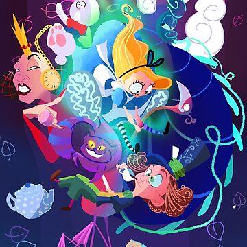 Alice In Wonderland by meldoodles
