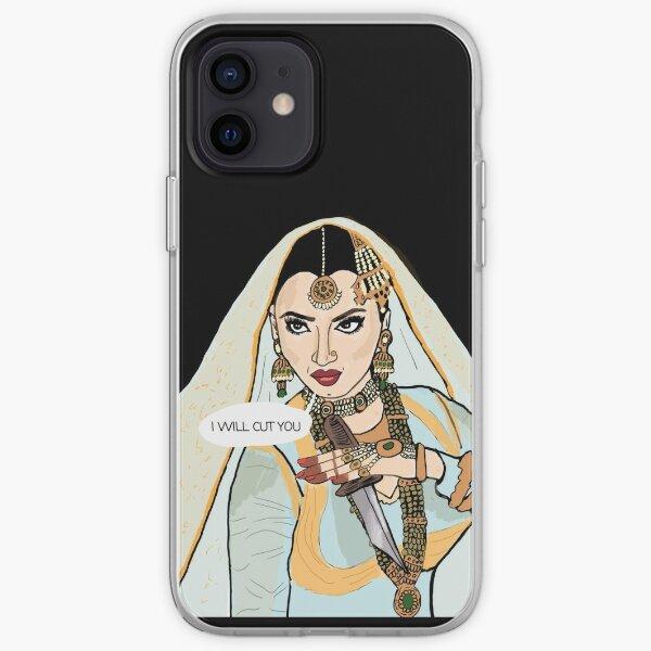I will cut you -rekha  iPhone Soft Case