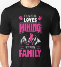 This Girl Loves Hiking With Her Family Outdoors T-Shirt  T-Shirt