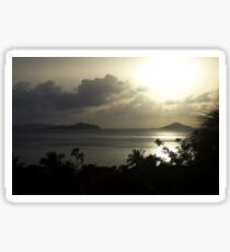 Virgin Gorda Sunset Sticker