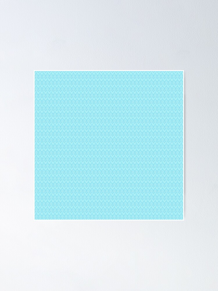 Alternate view of Teal and White Boho Pattern Poster