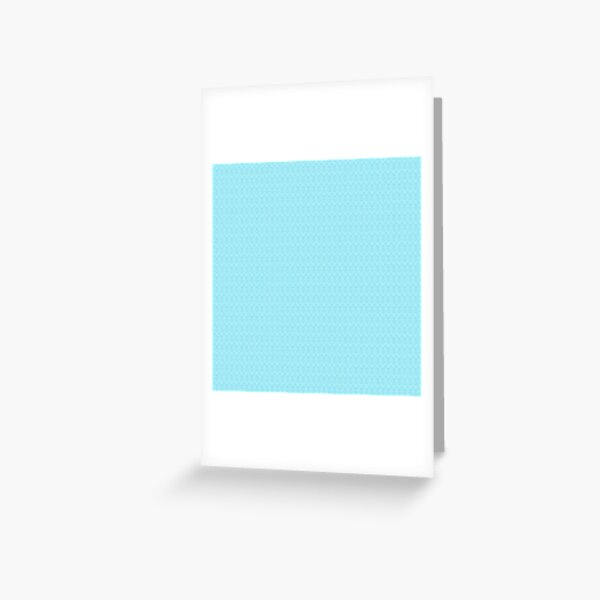 Teal and White Boho Pattern Greeting Card
