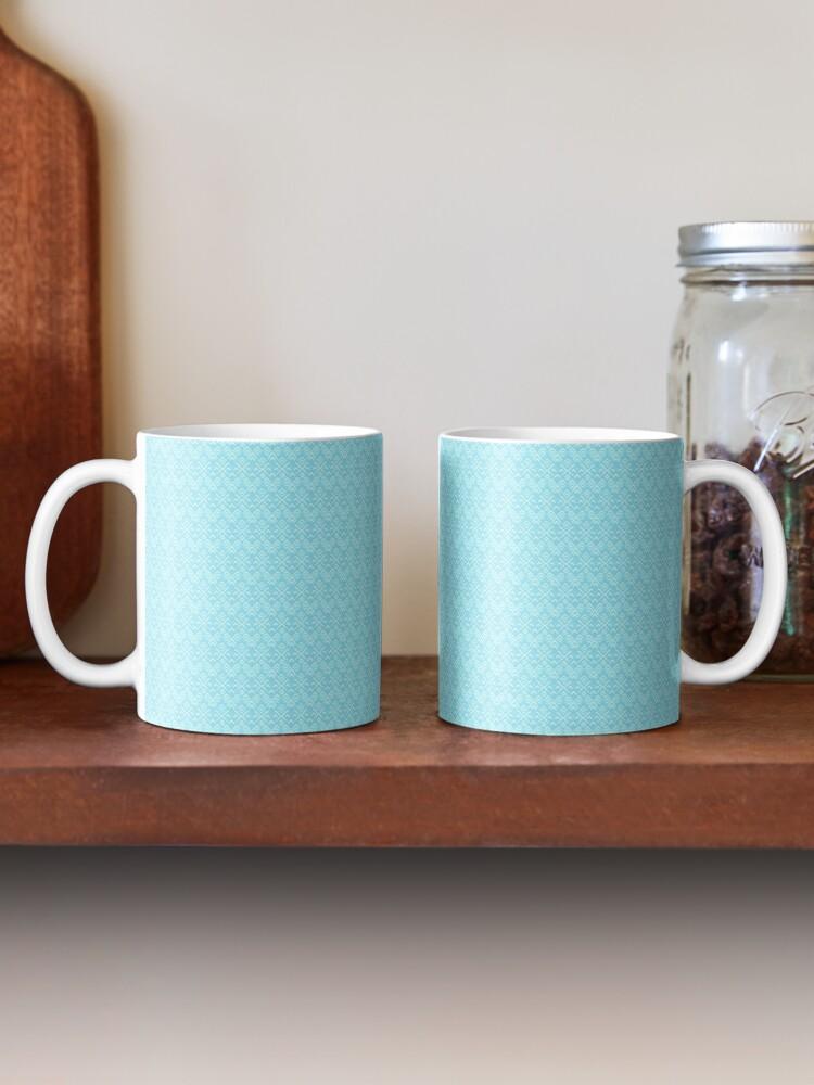 Alternate view of Teal and White Boho Pattern Mug