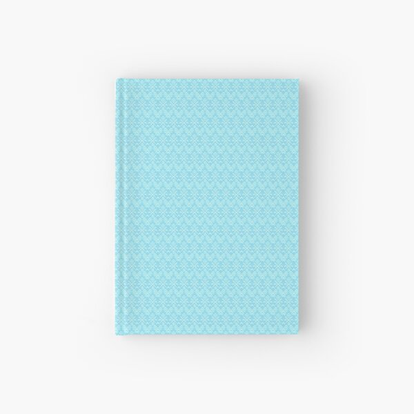 Teal and White Boho Pattern Hardcover Journal
