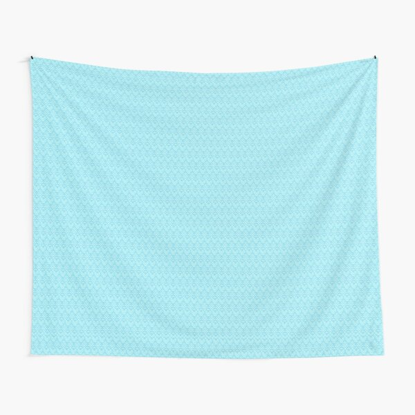 Teal and White Boho Pattern Tapestry