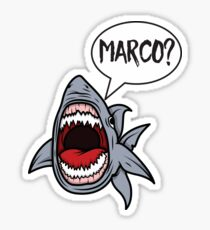 Hungry Shark Playing Marco Polo Sticker