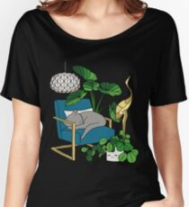 Cat nap by Elebea Women's Relaxed Fit T-Shirt