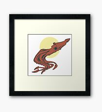 Squid Happens Framed Print