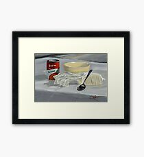 Bacon with Bacon DP170725a-14 Framed Print