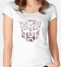 Autobot Cherry Blossoms Women's Fitted Scoop T-Shirt