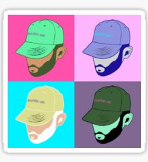 Jon bellion colorful vintage collage Sticker