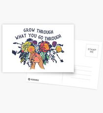 Grow Through What You Go Through Postcards
