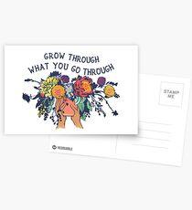 Wachsen Sie durch, was Sie durchmachen Postkarten