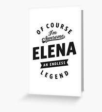 Elena Greeting Card