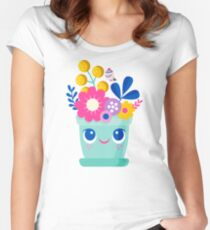 Bloom Where You Are Planted Women's Fitted Scoop T-Shirt